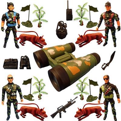اسباب بازی جنگی مدل سرباز کد sol12 مجموعه 23 عددی