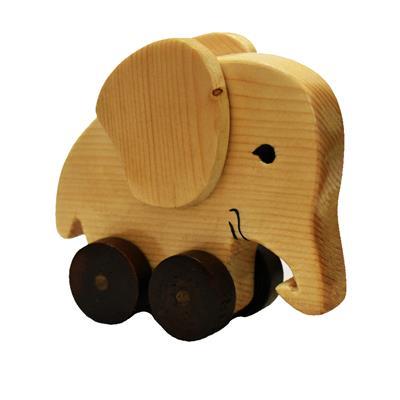 اسباب بازی چوبی طرح فیل کد 501