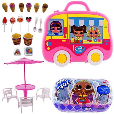 اسباب بازی طرح بستنی فروشی کد 160555 مجموعه 22 عددی