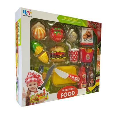 اسباب بازی ست همبرگر و سبزیجات مدل v400