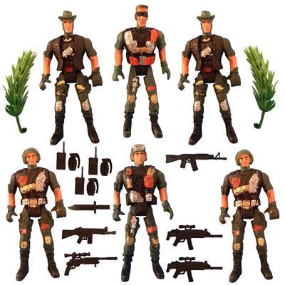 اسباب بازی جنگی مدل سرباز کد sol11 مجموعه 21 عددی
