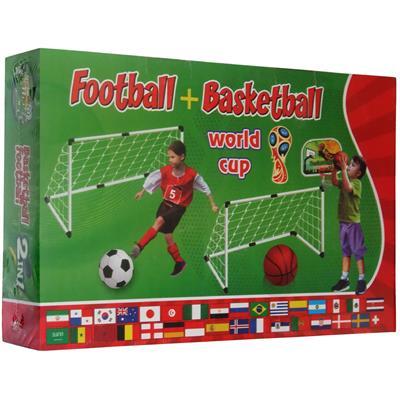 اسباب بازی دروازه فوتبال و تخته بسکتبال مدل football basketball 2in1 کد 2