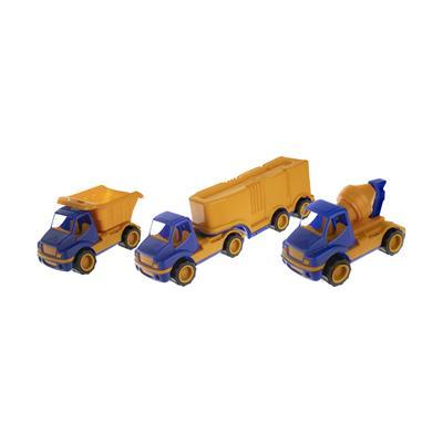 ماشین راه سازی اسباب بازی روی دی توی مدل cunstruction truck مجموعه 3 عددی