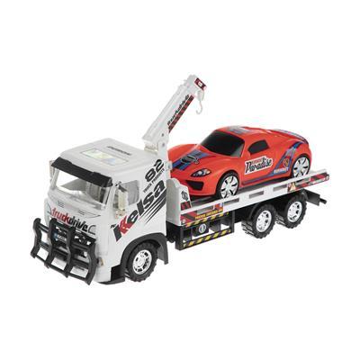 جرثقیل اسباب بازی دورج توی مدل tow truck مجموعه 2 عددی