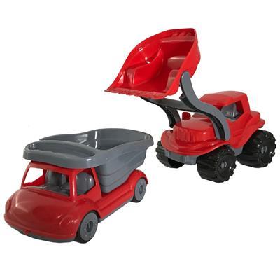 مجموعه ماشین اسباب بازی مدل لودر و کامیون کد 15
