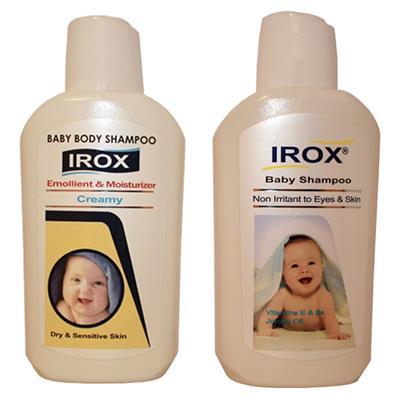 شامپو بدن کودک ایروکس مدل 01 حجم 02 لیتر به همراه شامپو سر کودک