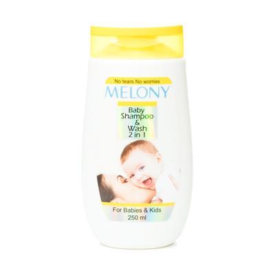 شامپو سر و بدن کودک ملونی مدل baby shampoo and wash حجم 250 میلی لیتر