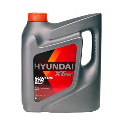 روغن موتور خودرو هیوندای اکستیر g500 10w40 sl حجم ۴ لیتر