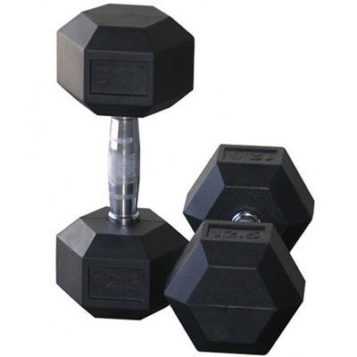 دمبل مدل hexagonal وزن 125 کیلوگرم بسته 2 عددی