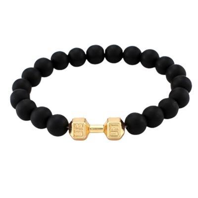 دستبند مردانه طرح دمبل کد d zh
