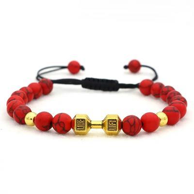 دستبند جینا طرح دمبل کد jbug 006