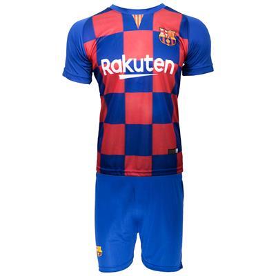 ست پیراهن و شورت ورزشی مردانه طرح تیم بارسلونا کد 2020