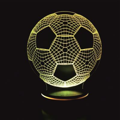 چراغ خواب سه بعدی پارسافن لیزر طرح توپ فوتبال 16 رنگ ریموت دار
