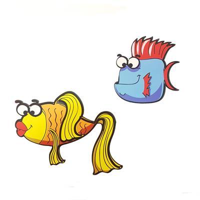 استیکر کودک جیک جیک طرح کاراکتر ماهی
