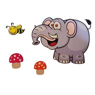 استیکر کودک جیک جیک طرح کاراکتر فیلی بسته 4 عددی
