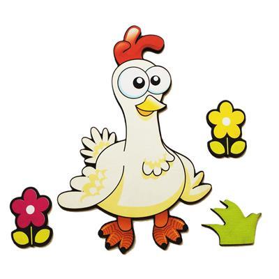 استیکر چوبی جیک جیک مدل کاراکتر مرغ