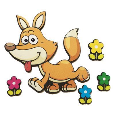 استیکر چوبی جیک جیک مدل کاراکتر روباه