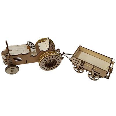 پازل سه بعدی چوبی برتاریو مدل تراکتور