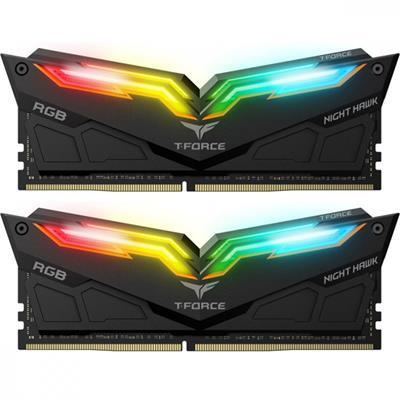رم تیم گروپ مشکی NIGHT HAWK RGB 32GB 16GBx2 3200Mhz CL16