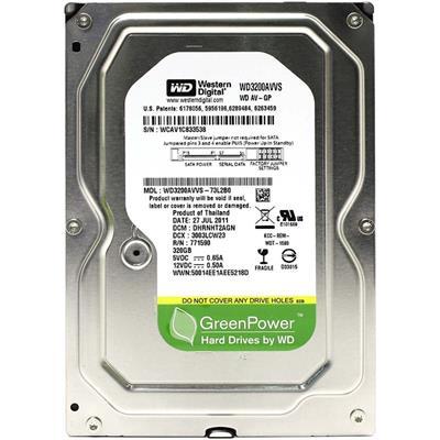 هارد دیسک اینترنال وسترن دیجیتال مدل wd av gp wd3200avvs ظرفیت 320 گیگابایت