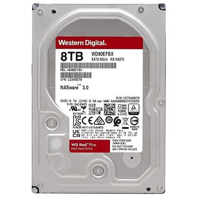 هارددیسک اینترنال وسترن دیجیتال مدل Red Plus WD80EFBX ظرفیت 8 ترابایت