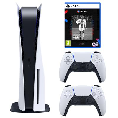 مجموعه کنسول بازی سونی مدل PlayStation 5 Drive ظرفیت 825 گیگابایت به همراه بازی فیفاPS5 21