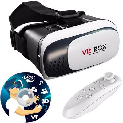 هدست واقعیت مجازی وی آر باکس مدل vr box 2 به همراه ریموت کنترل بلوتوث و dvd حاوی اپلیکیشن و باتری