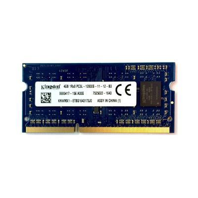 رم لپ تاپ کینگستون مدل 1600 ddr3l pc3l 12800s mhz ظرفیت 4 گیگابایت