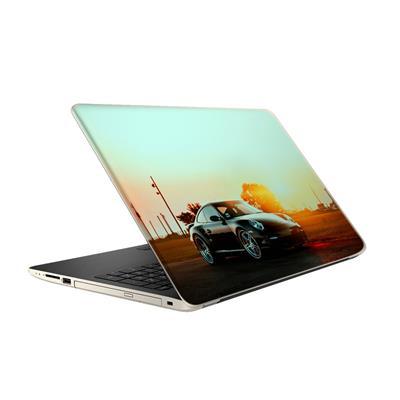 استیکر لپ تاپ تیداکس گروپ طرح ماشین پورشه مدل tie577 مناسب برای لپ تاپ 156 اینچ