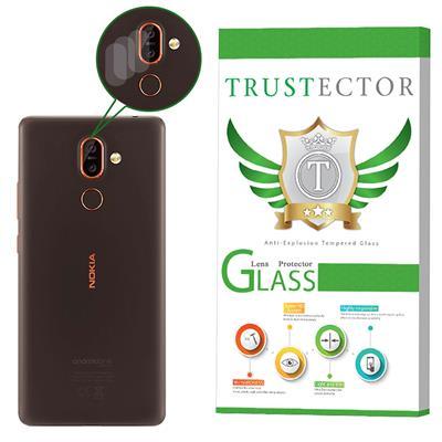 محافظ لنز دوربین تراستکتور مدل clp مناسب برای گوشی موبایل نوکیا 7 plus بسته 3 عددی