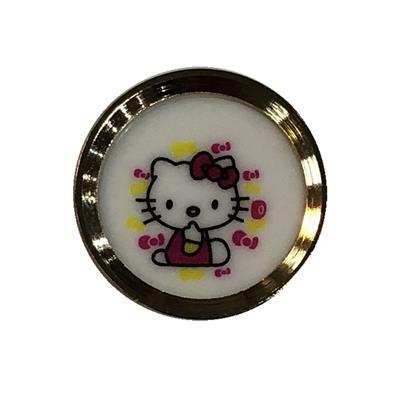 محافظ دکمه هوم مدل hello kitty مناسب برای گوشی موبایل اپل