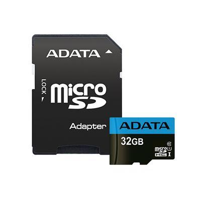 کارت حافظه microsdhc ای دیتا مدل premier کلاس 10 استاندارد uhs i u1 سرعت 100mbps ظرفیت 32 گیگابایت به همراه آداپتور sd