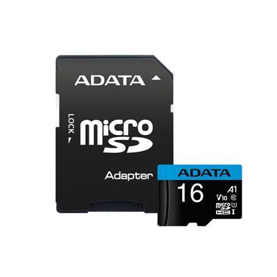 کارت حافظه microsdhc ای دیتا مدل premier کلاس 10 استاندارد uhs i u1 سرعت 100mbps ظرفیت 16 گیگابایت به همراه آداپتور sd