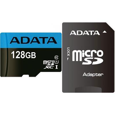 کارت حافظه microsdxc ای دیتا مدل premier کلاس 10 استاندارد uhs i u1 سرعت 85mbps همراه با آداپتور sd ظرفیت 128 گیگابایت