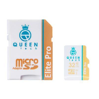 کارت حافظه microsdhc کوئین تک مدل elite pro 566x کلاس 10 استاندارد uhs i u1 سرعت 85mbps ظرفیت 32 گیگابایت به همراه آداپتور sd
