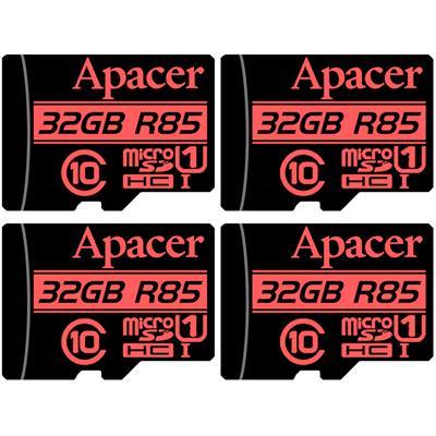 کارت حافظه microsdhc اپیسر مدل ap32g کلاس 10 استاندارد uhs i u1 سرعت 85mbps ظرفیت 32 گیگابایت بسته 4 عددی