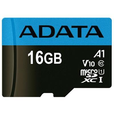 کارت حافظه microsdhc ای دیتا مدل premier v10 a1 کلاس 10 استاندارد uhs i سرعت 100mbps ظرفیت 16 گیگابایت