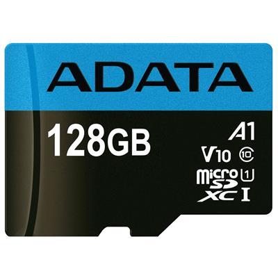 کارت حافظه microsdxc ای دیتا مدل premier v10 a1 کلاس 10 استاندارد uhs i سرعت 100mbps ظرفیت 128 گیگابایت