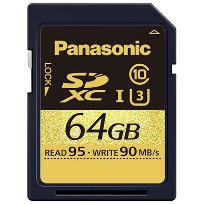 کارت حافظه sdxc پاناسونیک مدل rp sdud64gak کلاس 10 استاندارد uhs i u3 سرعت 95mbps ظرفیت 64 گیگابایت