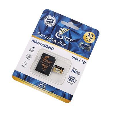 کارت حافظه microsdhc ویکو من مدل extre600x کلاس 10 استاندارد uhs i u3 سرعت 90mbps ظرفیت 32گیگابایت همراه با آداپتور sd