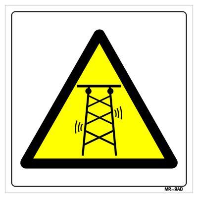 برچسب ایمنی مستر راد طرح خطر امواج رادیویی کد ly00196 بسته دو عددی