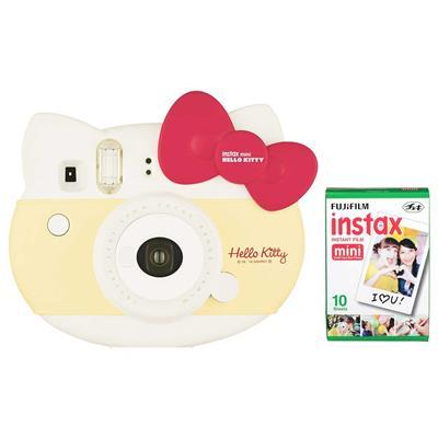 دوربین عکاسی چاپ سریع فوجی فیلم مدل instax mini hello kitty limited edition همراه با یک بسته فیلم 10 تایی