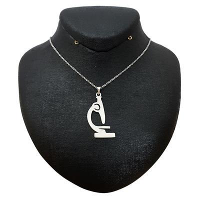 گردنبند نقره زنانه ترمه 1 طرح میکروسکوپ کد a 561