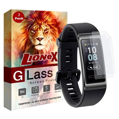محافظ صفحه نمایش لایونکس مدل fsp مناسب برای ساعت هوشمند هوآوی band 3 3 pro بسته دو عددی