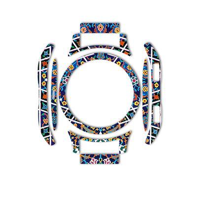 بسته 2 عددی برچسب ماهوت مدل imam reza shrine tile design مناسب برای ساعت هوشمند samsung galaxy watch 46mm